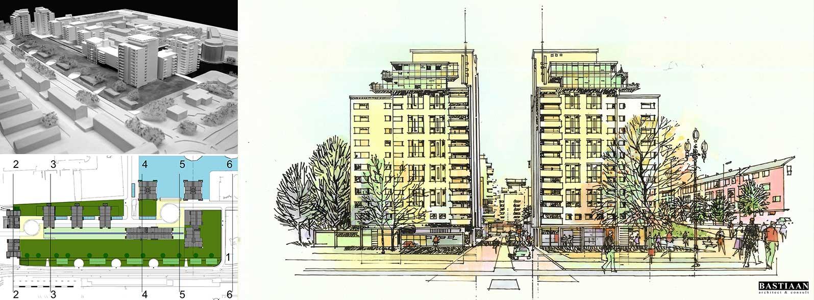 meervoudige woningbouwarchitectuur   urban   landschap